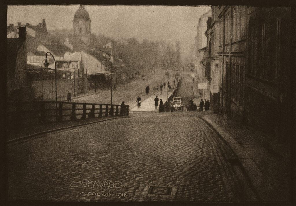 Sveavägen 1918. Foto: Henry B Goodwin