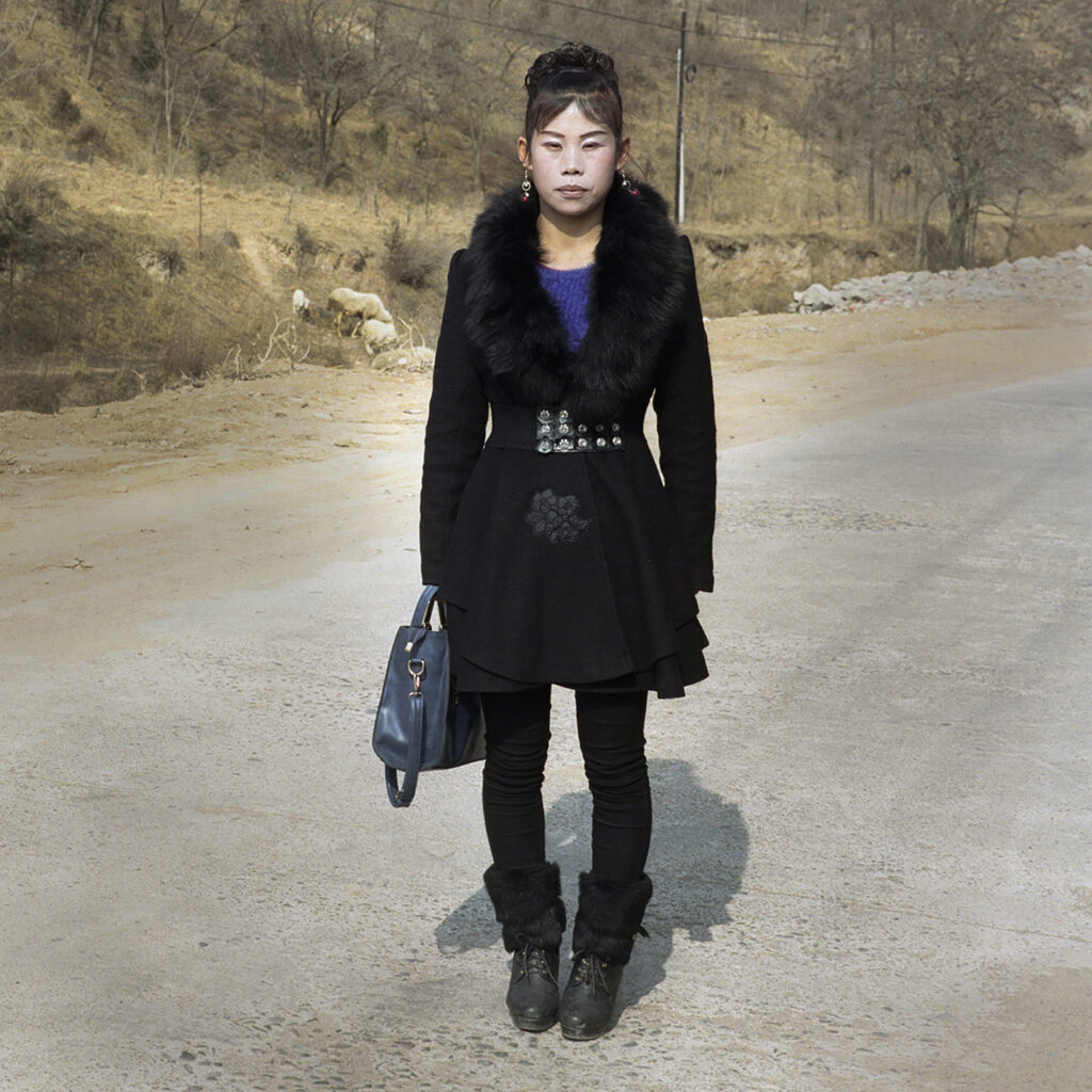 Girl on the road, China